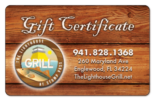 Gift Card Lighthouse Grill